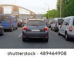 cars in traffic jam | Shutterstock . vector #489464908