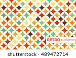 abstract retro geometric... | Shutterstock .eps vector #489472714