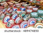 market stall  selling  tableware | Shutterstock . vector #489474850