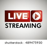 button icon live streaming... | Shutterstock .eps vector #489475930