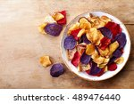 bowl of healthy colorful... | Shutterstock . vector #489476440