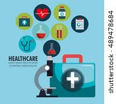 collection healthcare medical... | Shutterstock .eps vector #489478684