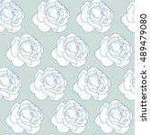 floral seamless pattern. vector ... | Shutterstock .eps vector #489479080