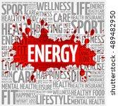 energy word cloud background ... | Shutterstock . vector #489482950