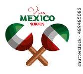 maracas flag mexico icon design | Shutterstock .eps vector #489485083