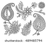 adult coloring book with floral ...   Shutterstock .eps vector #489485794