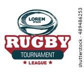 rugby sport ball tournament... | Shutterstock .eps vector #489486253