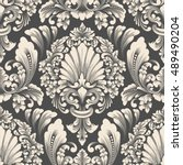 vector damask seamless pattern... | Shutterstock .eps vector #489490204