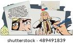 stock illustration. people in... | Shutterstock .eps vector #489491839