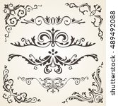 calligraphic design elements... | Shutterstock .eps vector #489492088