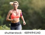 beautiful athletic woman... | Shutterstock . vector #489494140