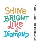 vector poster with quote shine... | Shutterstock .eps vector #489494899