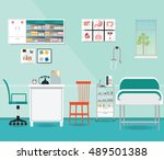 medical examination or medical... | Shutterstock .eps vector #489501388