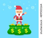 santa claus with money bags | Shutterstock .eps vector #489503164