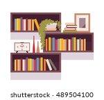 set of retro rectangle... | Shutterstock .eps vector #489504100