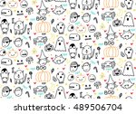 Seamless Halloween Pattern For...