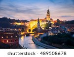 beautiful view of castle and... | Shutterstock . vector #489508678