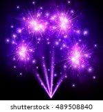 Festive Purple Firework...