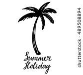 coconut palm tree. logo  icon ... | Shutterstock .eps vector #489508894