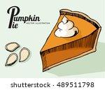 slice of pumpkin pie and...