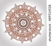 mandala mehndi  indian henna ... | Shutterstock .eps vector #489514528