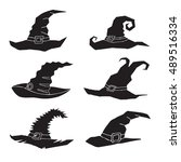 halloween  witch's hat  ... | Shutterstock .eps vector #489516334