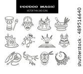 voodoo african and american... | Shutterstock .eps vector #489516640