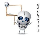 cartoon skulls   illustration | Shutterstock .eps vector #489517600