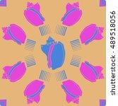 sea  pattern  shells  halftone .   Shutterstock .eps vector #489518056