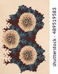 floral hand made design   Shutterstock . vector #489519583