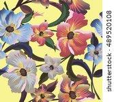 flower  vector   Shutterstock .eps vector #489520108