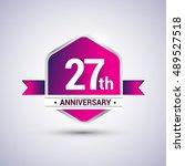 logo 27th anniversary... | Shutterstock .eps vector #489527518