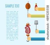 vector illustrations bbq poster.... | Shutterstock .eps vector #489535558