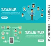 social network people and... | Shutterstock .eps vector #489535783