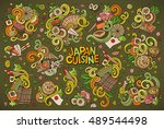 colorful vector hand drawn... | Shutterstock .eps vector #489544498