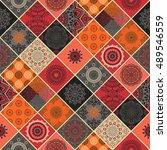 seamless pattern. vintage... | Shutterstock .eps vector #489546559