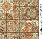 seamless pattern. vintage... | Shutterstock .eps vector #489546790