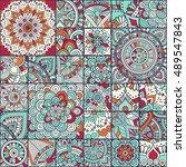 seamless pattern. vintage... | Shutterstock .eps vector #489547843