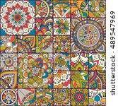 seamless pattern. vintage... | Shutterstock .eps vector #489547969