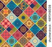 seamless pattern. vintage... | Shutterstock .eps vector #489548038