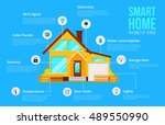smart home automation system... | Shutterstock .eps vector #489550990