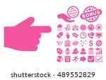 index finger icon with bonus...
