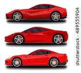 realistic sport car set. | Shutterstock .eps vector #489555904