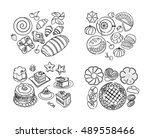 sweets  cakes  baked products | Shutterstock .eps vector #489558466