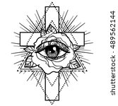 rosicrucianism symbol.... | Shutterstock .eps vector #489562144