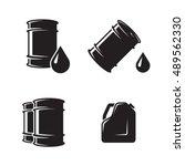 barrel oil icons | Shutterstock .eps vector #489562330