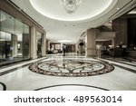 luxury lobby interior.with...   Shutterstock . vector #489563014