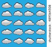 clouds vector set | Shutterstock .eps vector #489564508