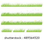 set of green grass background | Shutterstock .eps vector #489564520