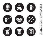 coffee icons set. espresso...   Shutterstock .eps vector #489566464